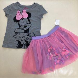 Disney Minnie Mouse Cute Tutu Skirt Set